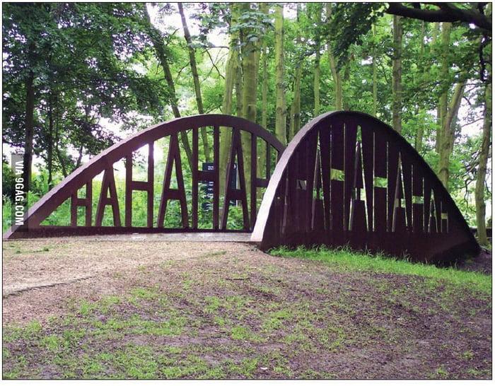 Happiest bridge on earth: The Nelson Muntz bridge