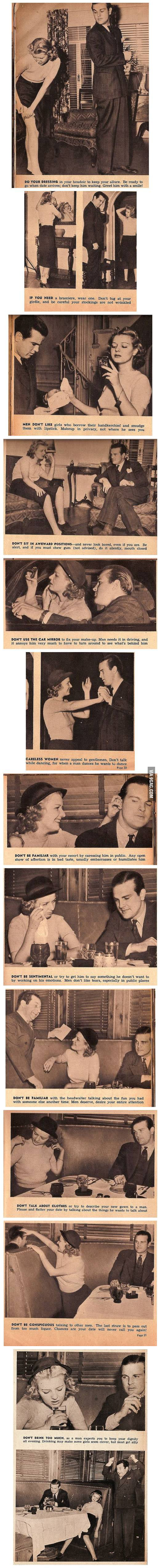 Dating Advice for Women circa 1950