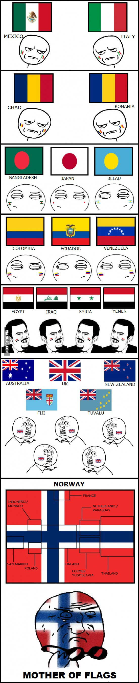 Some flags around the world... oh wait!