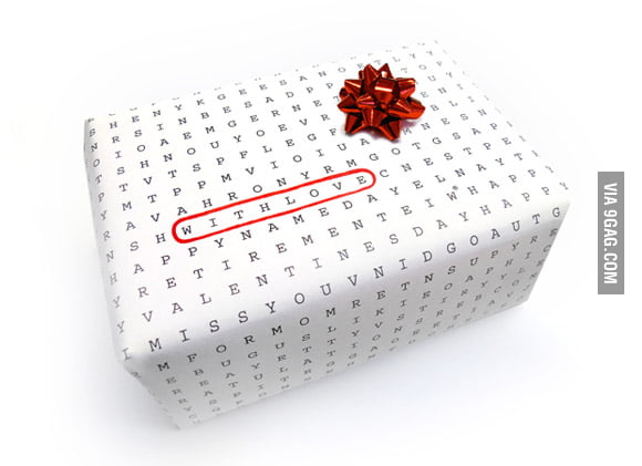 Universal wrapping paper for any occasion