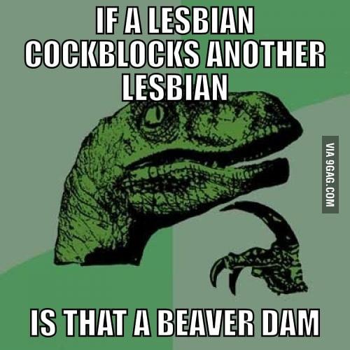 If a lesbian cockblocks another lesbian
