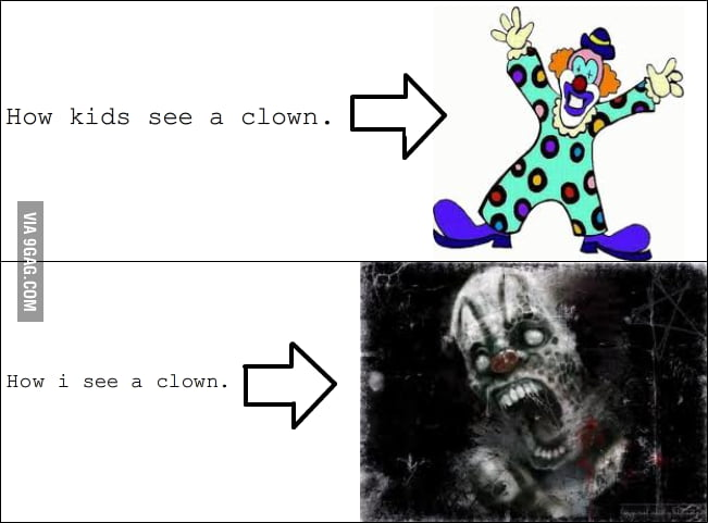 How I see a clown...