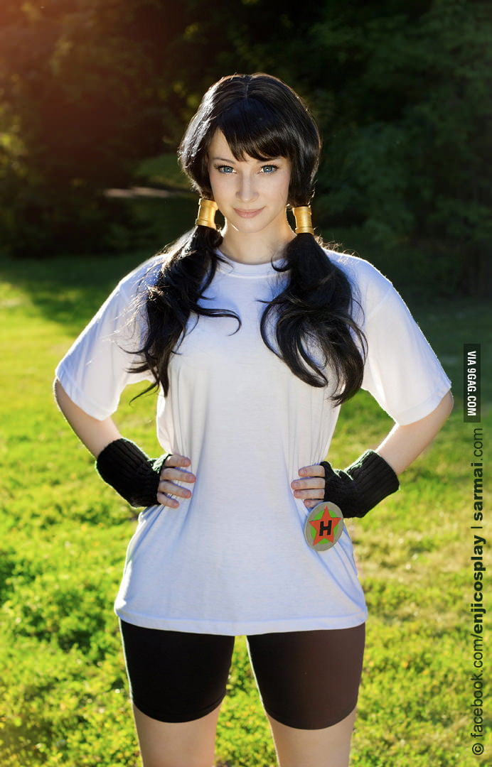 Enji playing as Videl in Dragon Ball