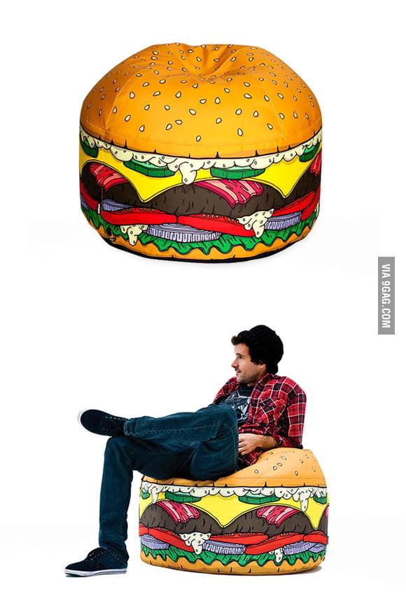 Hamburger-Shaped Chair