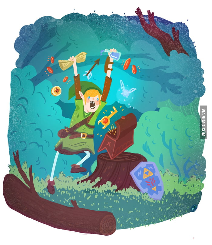 How I feel when playing Zelda