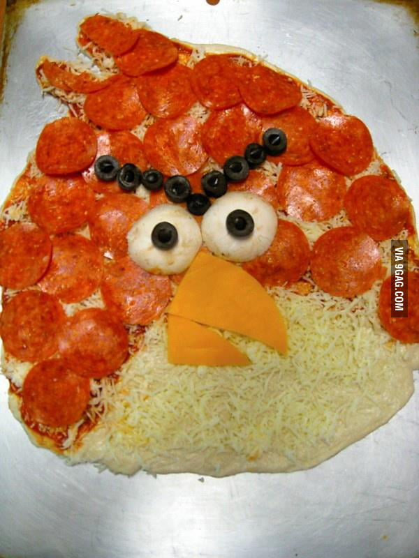 An Angry Pizza