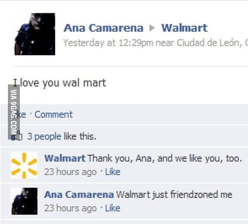 Friendzoned by Walmart