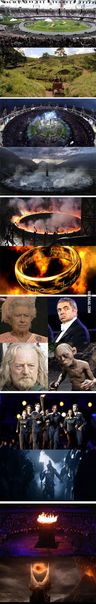 Olympics Opening Ceremony = Lord of the Rings