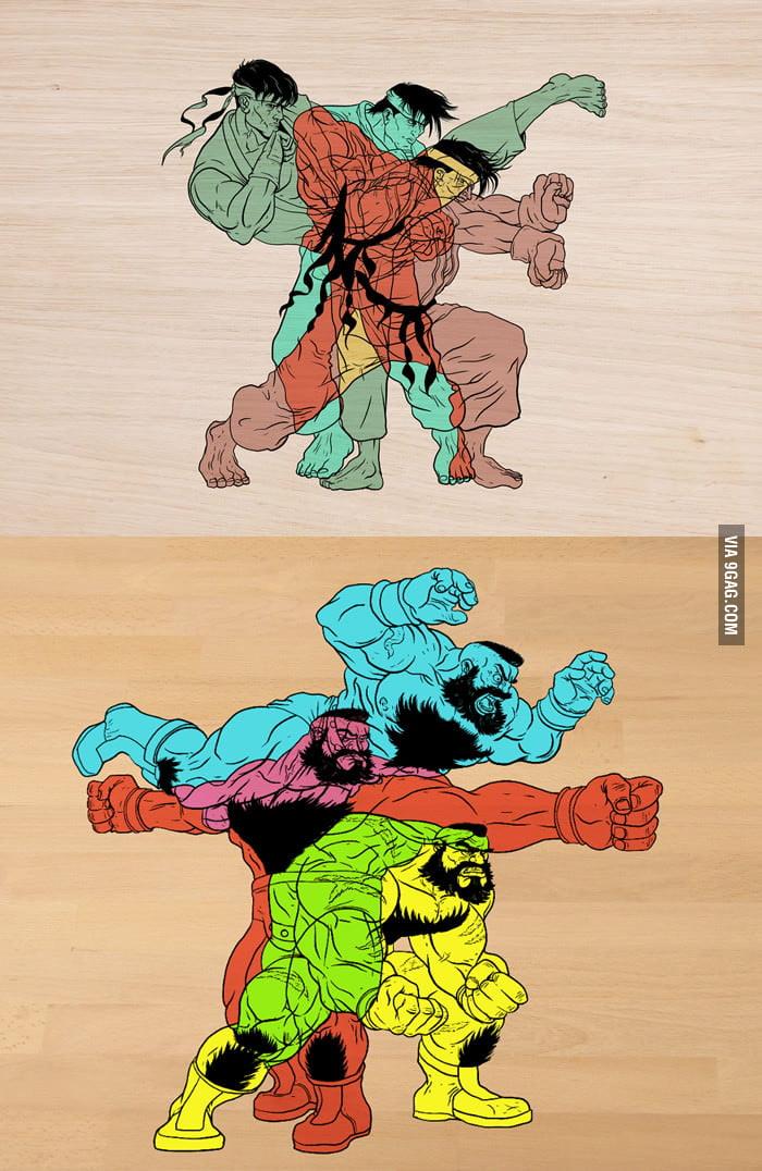 Phases of the Battle: Ryu & Zangief