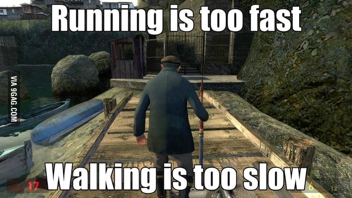 Following a game NPC