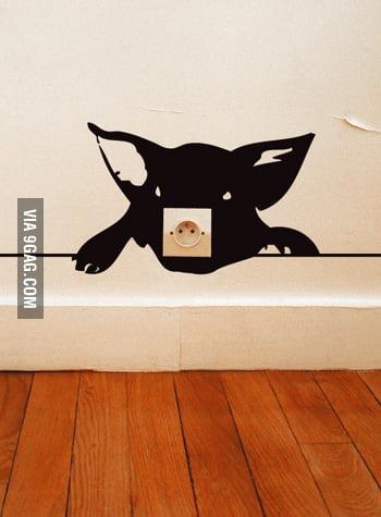 Piggy Wall Socket Sticker