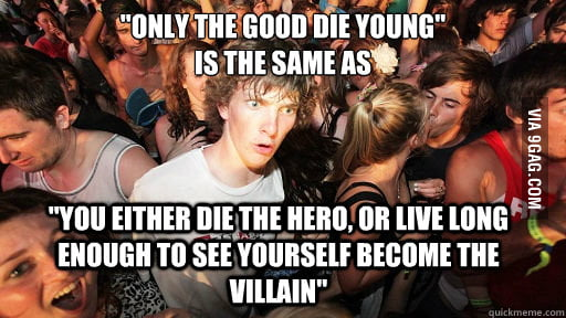 Had this realization. Blew my mind.