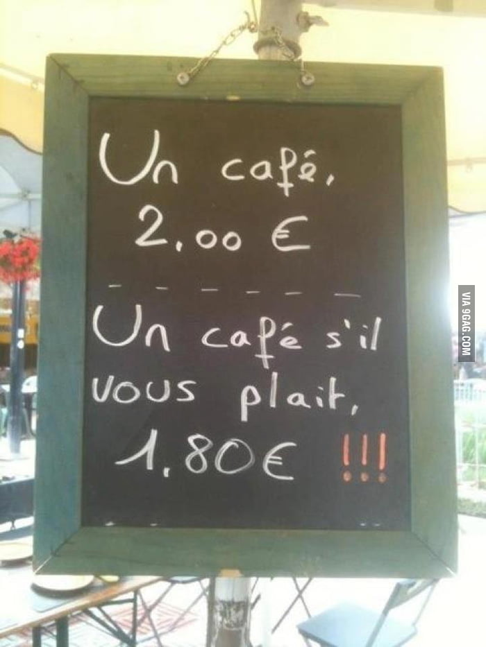 Be polite in France