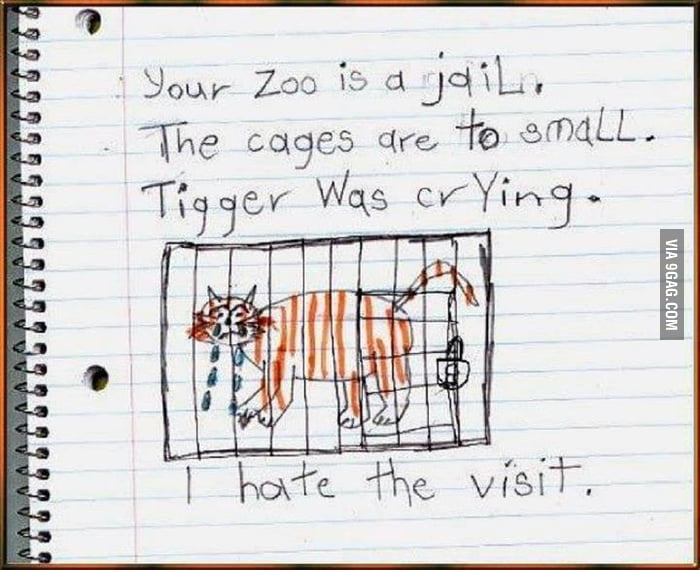 A kid writes about a zoo he visited