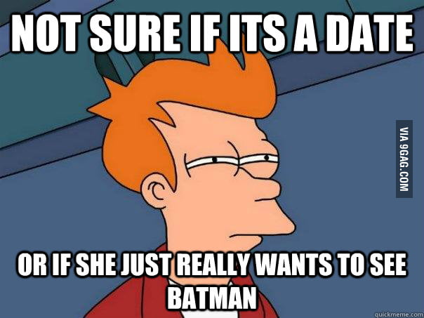 Girl says she's really excited to see TDKR with me