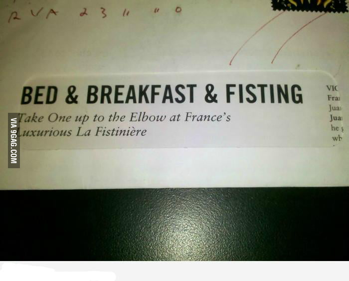 Bed and breakfast and...what??