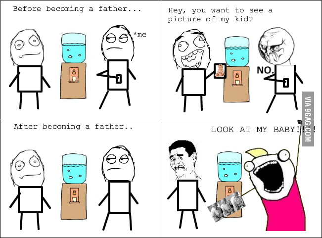 Becoming a father: before and after