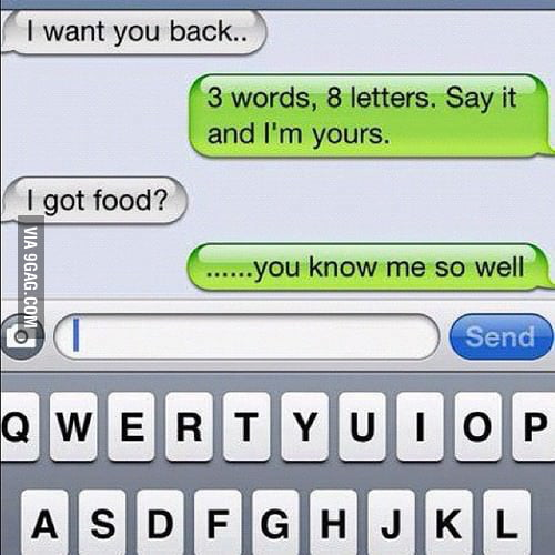 3 words, 8 letters. Say it and I'm yours