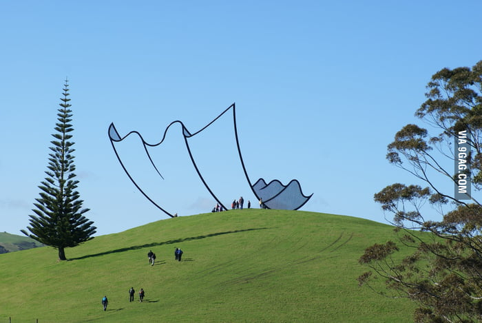 This is a real sculpture in New Zealand