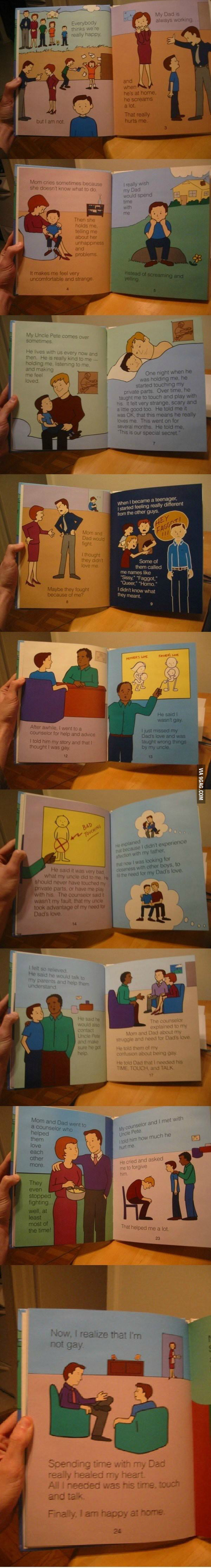 A children's book meant for victims of child abuse...