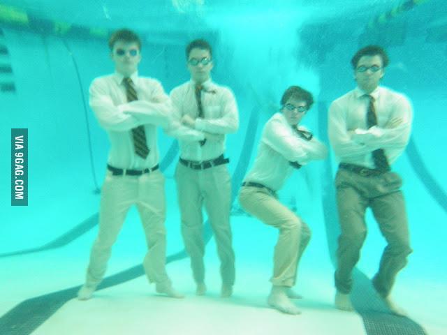 My friend's high school's water polo team