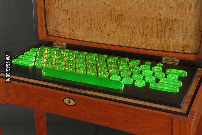Uranium Glass Keyboard