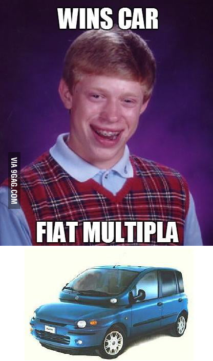 Bad Luck Brian Wins Car