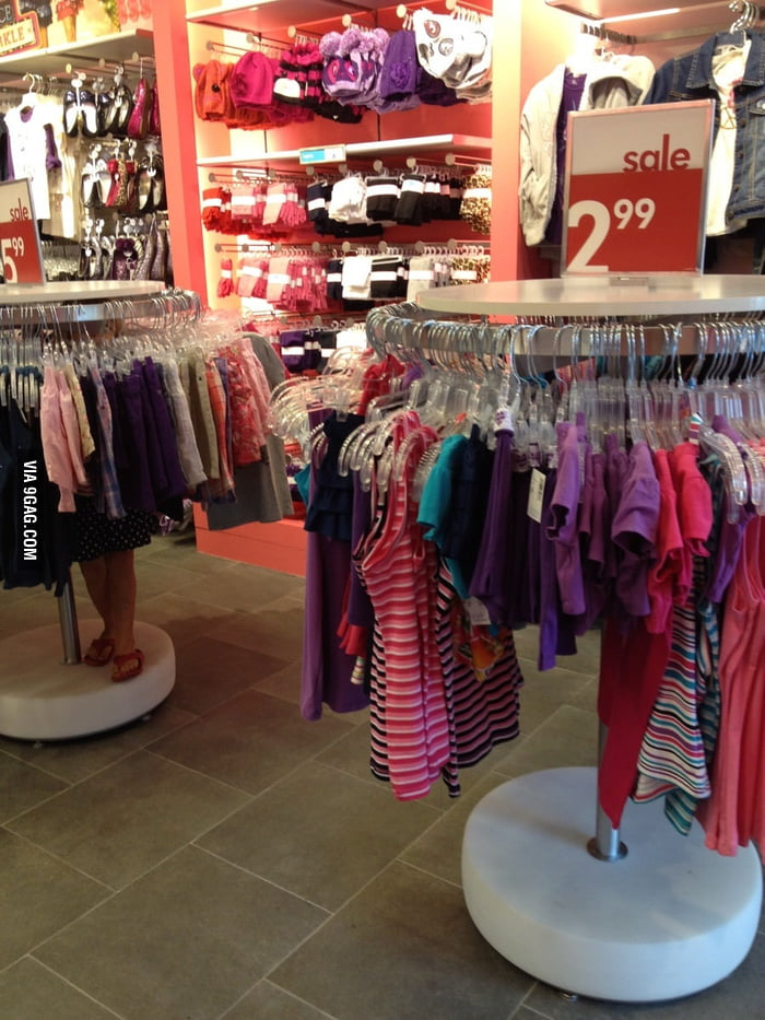 My niece does this every time when we go shopping...