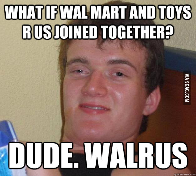 What my friend told me on the way to Walmart