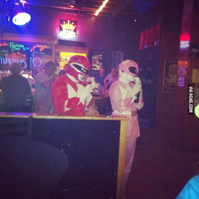 When they came in the bar, the band played their theme song.