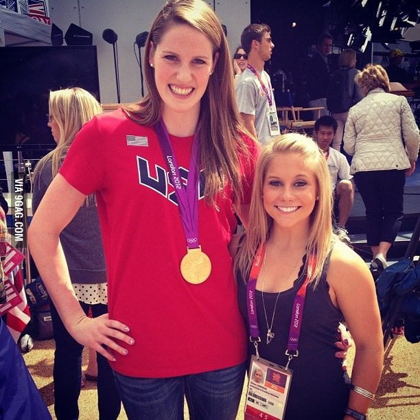 The difference between an Olympic gymnast and swimmer.