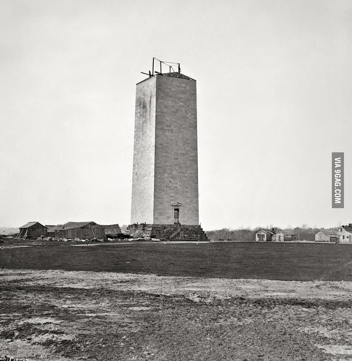 Washington Monument in 1860.