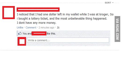 Amazing luck!
