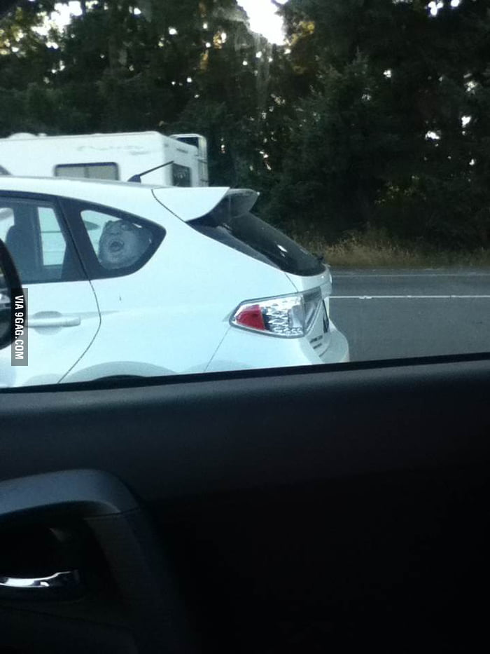 I almost crashed when I saw this next to me...
