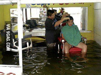 Coz you need good looks even when flooding.