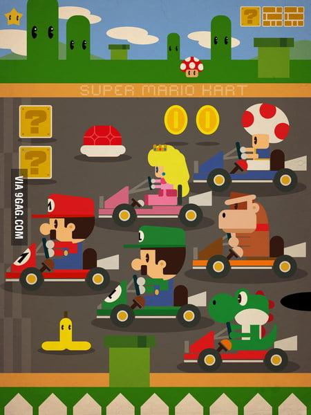 Mario Kart 2D