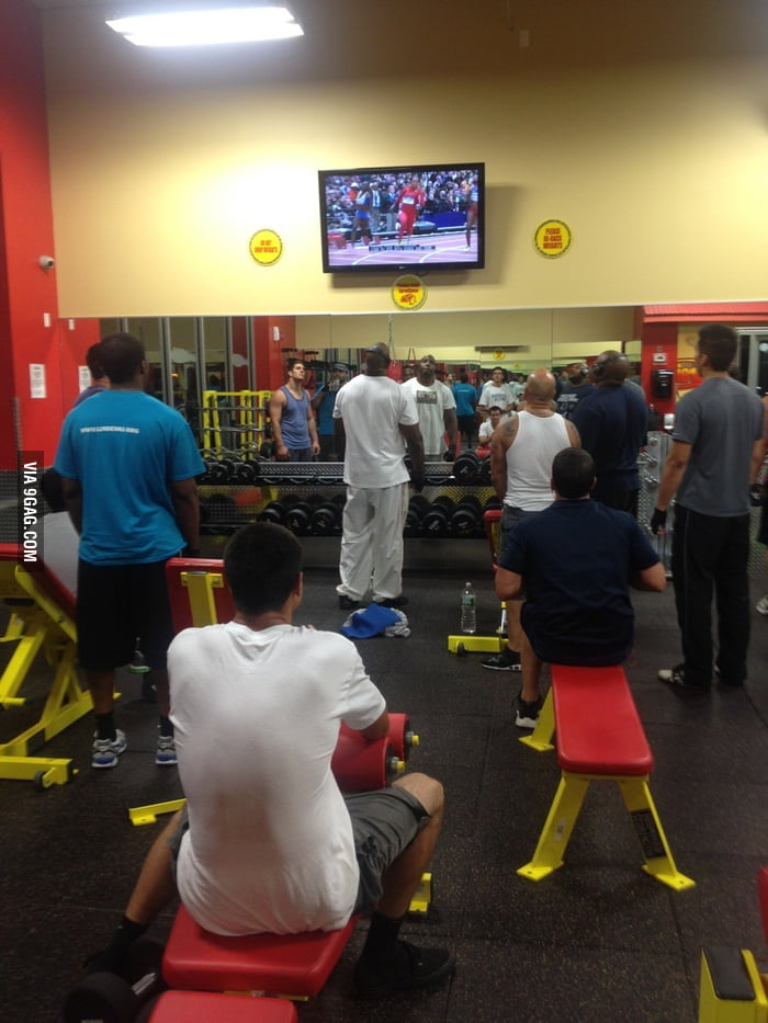 Gym during the Olympics