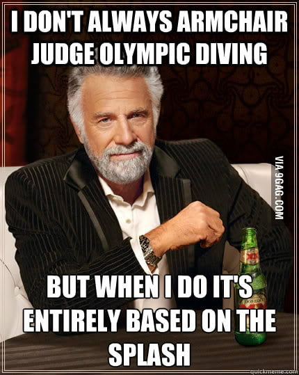 How I judge Olympic divers