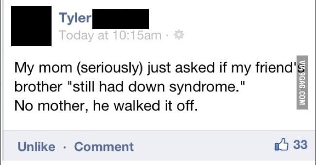 He walked it off