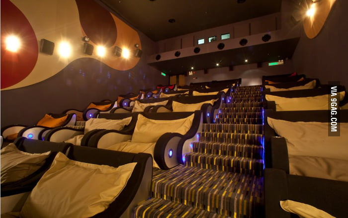 I can watch any movies in this theatre!