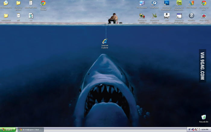 Fishing on the desktop
