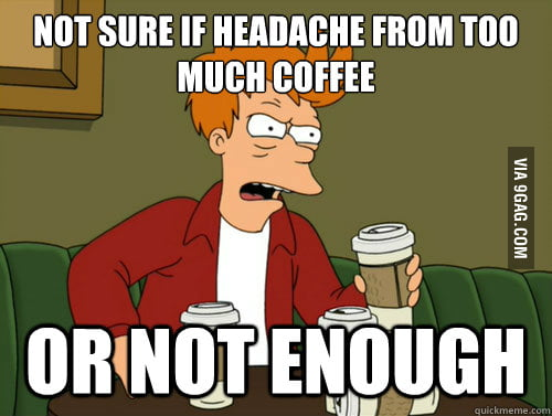 The problem with coffee...