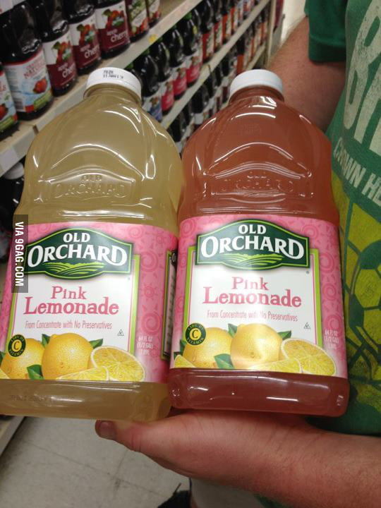 Pink Lemonade? Are you sure?