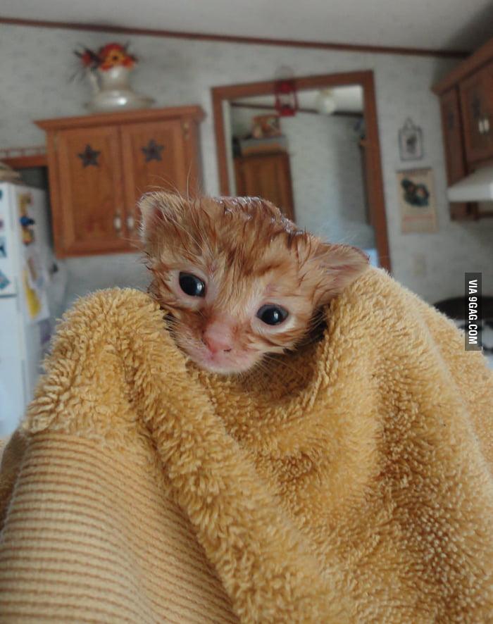 Just finished bath...