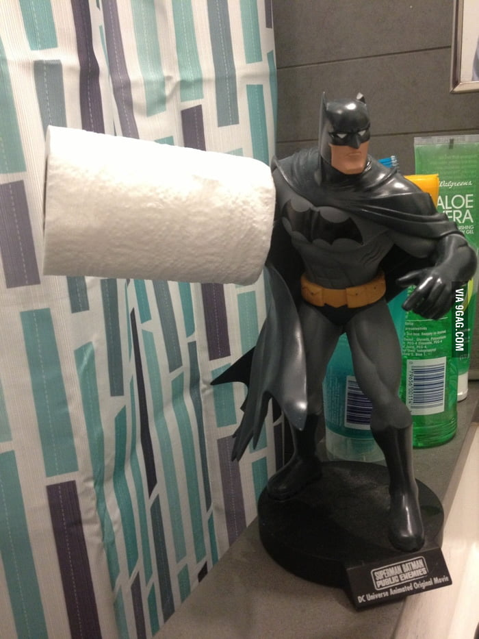The toilet paper holder broke...