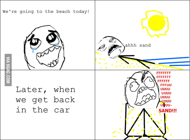 I love beach but I hate sands...