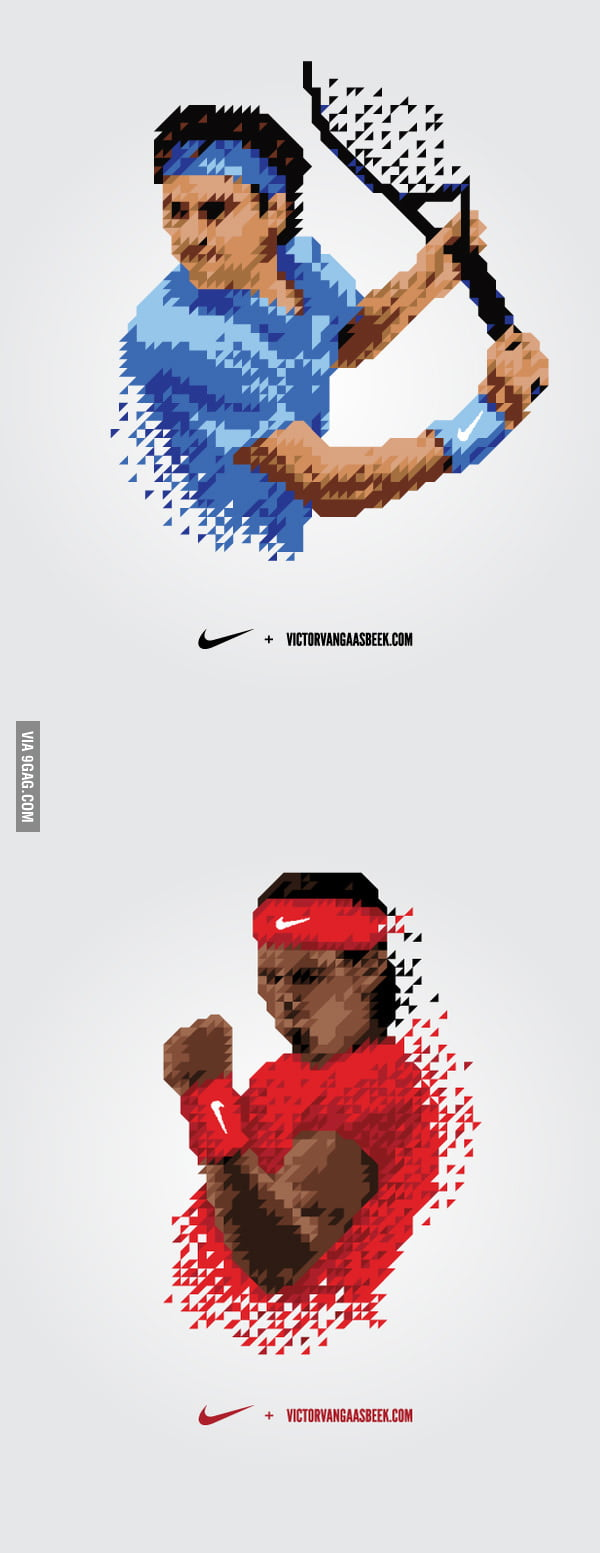 Awesome Nadal and Federer