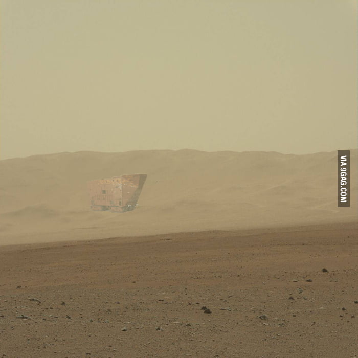 Curiosity Rover spots intelligent life on Mars.