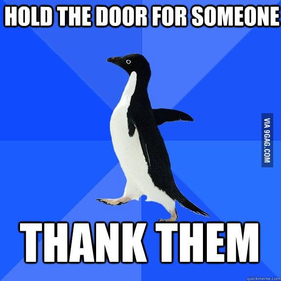 I am such a polite dork.