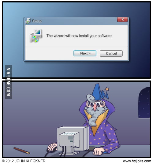 The wizard will now install your software.